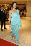 Padma Lakshmi in blue at White House Correspondents Association dinner - April 26,  2008