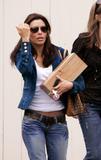Eva Longoria leaving Cafe Med