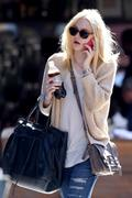 """Dakota Fanning """"In ripped jeans out in New York"""""""