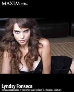 Lyndsy Fonseca sexy uncovered MAXIM photo