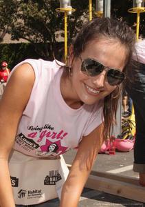 Camilla Belle @  Habitat For Humanity celebrity building event; September 29 2012