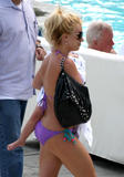 Britney Spears in purple bikini at Ritz Carlton Hotel, Marina del Rey -