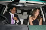 Liz Hurley and Arun Nayar leaving the Cipriani restaurant in Mayfair 06-16-08